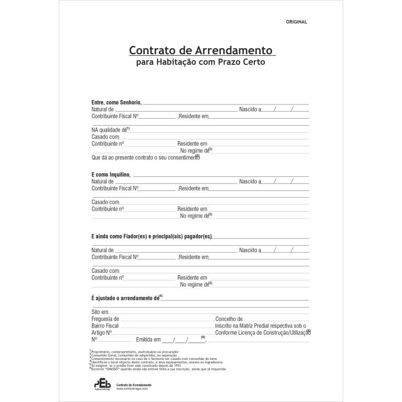 Contracto Arrendamento